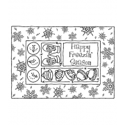 Darby New Cling Mount Stamp: Winter Frame RX3-1999