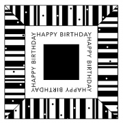 J. Clare Simple Squares - Happy Birthday SC-2590