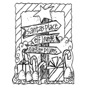 Joanne Sharpe Cling Mount Stamp - Sign Post AGC2-2469