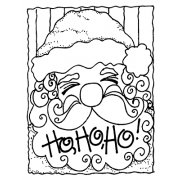Joanne Sharpe Cling Mount Stamp - Santa Face AGC2-2470