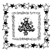 Joanne Sharpe Simple Squares - Christmas Tree SC-2454