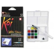 Koi 12 Color Water Colors Set, XNCW-12H