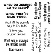 Len Peralta Clear Stamp Set - Zombie Riddles SC-2798