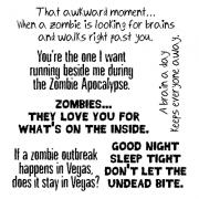 Len Peralta Clear Stamp Set - Zombie Wisdom SC-2800