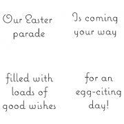 Cling Mount Stamp Set - Our Easter Parade M-1588