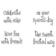 Cling Mount Stamp Set - Celebrate With Cake M-1981