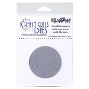 Crafty Cutts Dies - Six Petal Flower Circle Metal Die CCD-038