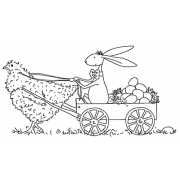 Michelle Masters Wood Mounted Stamp - Easter Bunny J2-2680