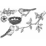 Nicole Tamarin Cling Mount Stamp Set - Bird Song NT-007