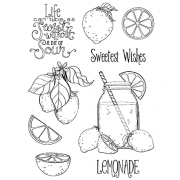 Nicole Tamarin Cling Mount Stamp Set - Lemonade NT-023