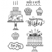 Nicole Tamarin Cling Mount Stamp Set - Make A Wish NT-018
