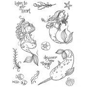 Nicole Tamarin Cling Mount Stamp Set - Mermaids NT-025