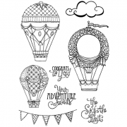 Nicole Tamarin Cling Mount Stamp Set - Up & Away NT-021