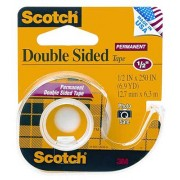 Scotch Double-Sided Permanent Tape, 3M-137