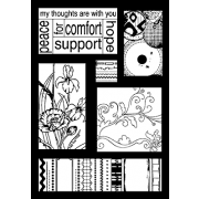 Suzanne Carillo Single Cling Mount Stamp - Peace Cutts A Part AGC3-2561
