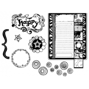 Suzanne Carillo Cling Mount Stamp Sets - Happy Birthday Yummy BZ002