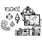 Suzanne Carillo Cling Mount Stamp Sets - Royal Noel BZ003