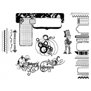 Suzanne Carillo Cling Mount Stamp Sets - Fun Halloween BZ004