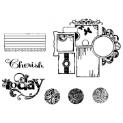 Suzanne Carillo Cling Mount Stamp Sets - Cherish Today BZ005