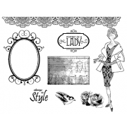 Suzanne Carillo Cling Mount Stamp Sets - Woman BZ007