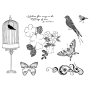 Suzanne Carillo Cling Mount Stamp Sets - Wings of Time BZ014