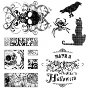 Suzanne Carillo Clear Stamp Set - Wicked Halloween SC-2711