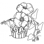 Catherine Scanlon Cling Mount Stamp - Cup & Vine AGC2-2762