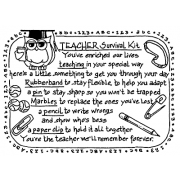 Carolee Jones Cling Mount Stamp - Teacher Survival Kit AGC1-2467