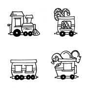 Carolee Jones Cling Mount Stamp Set - Choo Choo Train L-2721