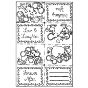 Carolee Jones Cling Mount Stamp: Mouse Love Book RX3-1071