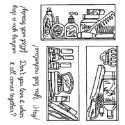 Carolee Jones Clear Stamps: Beauty Supplies Cluttered Cabinets SC-2448