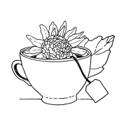 Catherine Scanlon Cling Mount Stamp - Floral Tea AGC3-2849