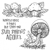 Catherine Scanlon Cling Mount Stamp Set - Fungus Amongus 5 CSCS-2793