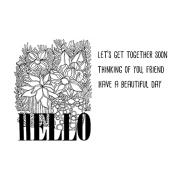 Catherine Scanlon Cling Mount Stamp Set - Hello CSCS-2842