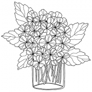 Catherine Scanlon Cling Mount Stamp - Hydrangea Love AGC2-2806