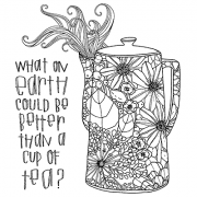 Catherine Scanlon Cling Mount Stamp Set - Tall Teapot CSCS-2818
