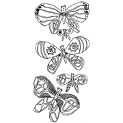 Catherine Scanlon Cling Mount Stamp Set - Butterflies AGC3-2755