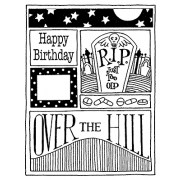 Darby New Cling Mount Stamp - R.I.P. Mini Frame AGC2-1008