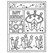 Darby New Cling Mount Stamp - Birthday Mini Frame AGC2-1408