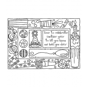 Darby New Cling Mount Stamp: Birthday Frame RX3-2128