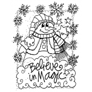 Joanne Sharpe Cling Mount Stamp - Believe AGC2-2468