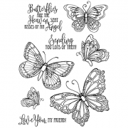Nicole Tamarin Cling Mount Stamp Set - Butterfly Kisses NT-015