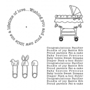 Carolee Jones Wheel Cling Stamp Set - Baby ASCS-001