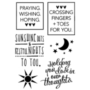 Words to the Rescue Clear Stamps - Healing Thoughts SFC026