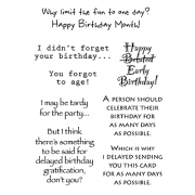 Words to the Rescue Clear Stamps - Belated Birthday SFC015
