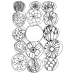 Catherine Scanlon Cling Mount Stamp - Fifteen Orbs AGC3-2752