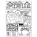 Carolee Jones Cling Mount Stamp - Halloween Cutts Apart AGC3-2474