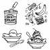 Carolee Jones Cling Mount Stamp Set - Sundae L-2133