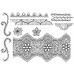 Nicole Tamarin Cling Mount Stamp Set - Indian Lace Borders NT-002