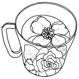 Catherine Scanlon Cling Mount Stamp - Flower Teacup AGC0-2759